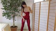 Crazy-Sophia – Rotes Catsuit mit Lchern